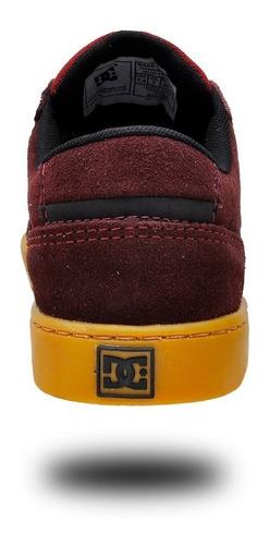 tênis dc council skate leather cano baixo masculinos