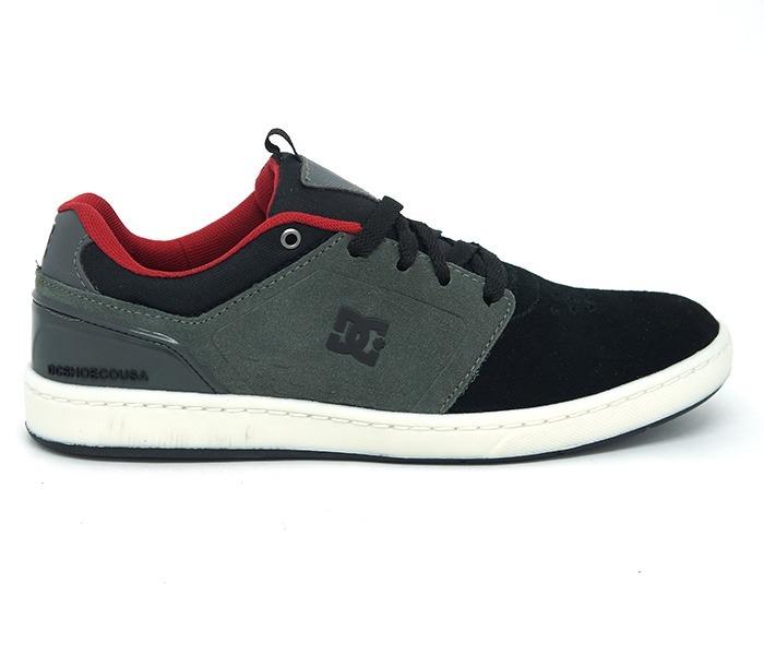82ab7f7b0e Tênis Dc Shoes Cole Signature Couro Preto E Cinza Masculino - R$ 139 ...