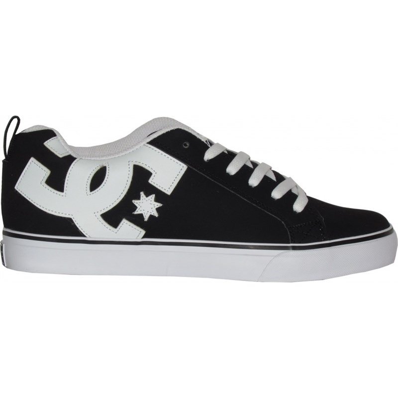 tênis dc shoes court vulc black white. Carregando zoom. 9243c2d7c3c5e