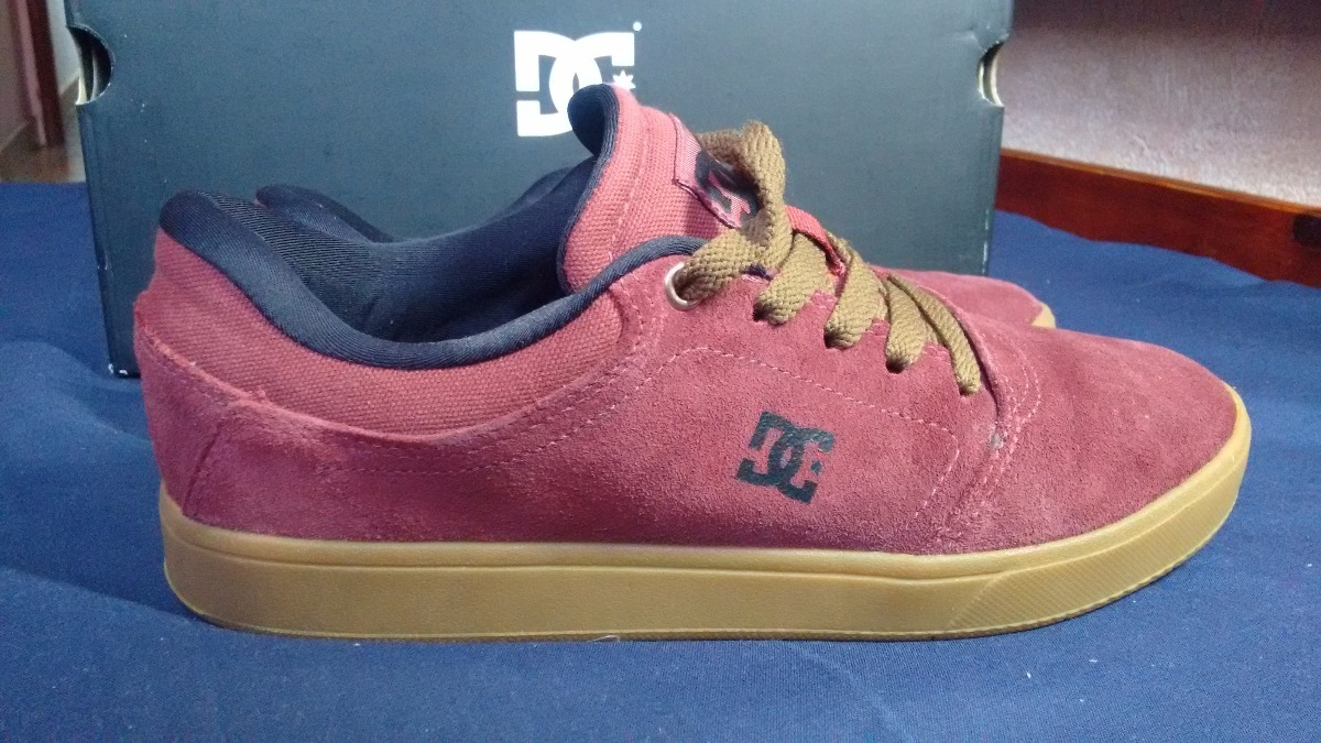 bd7d209666 Tênis Dc Shoes Crisis La Vinho E Marrom Origininal Nº38 - R$ 150,00 ...