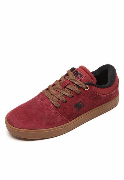 Tênis Dc Shoes Crisis La Vinho E Marrom Origininal Nº38 - R  150 2e2aa2d017e54