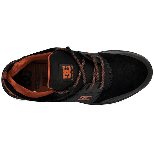 Tênis Dc Shoes Heathrow Prestige Preto marrom branco - R  449 e271ffc5492a4