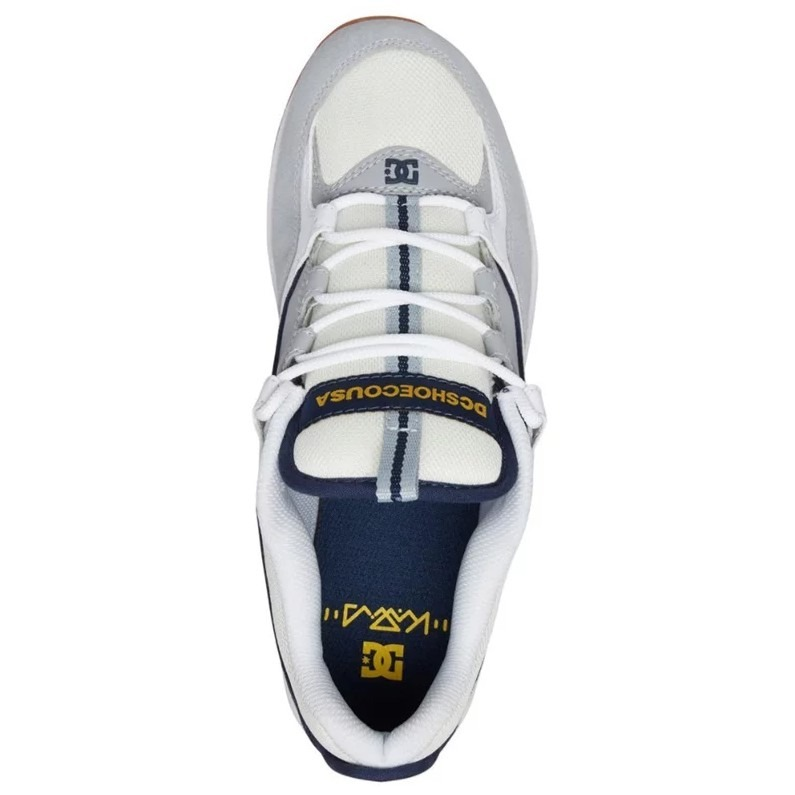 10bb7d52e48d Tênis Dc Shoes Kalis Lite White Grey Yellow - R  399