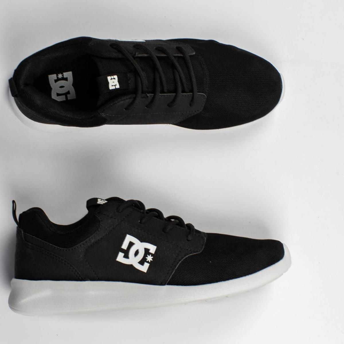 7e2533a581 tênis dc shoes midway sn preto branco original. Carregando zoom.