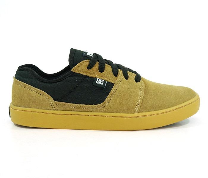 Tênis Dc Shoes Tonik S Couro Caramelo E Preto - R  289 503895c31e1
