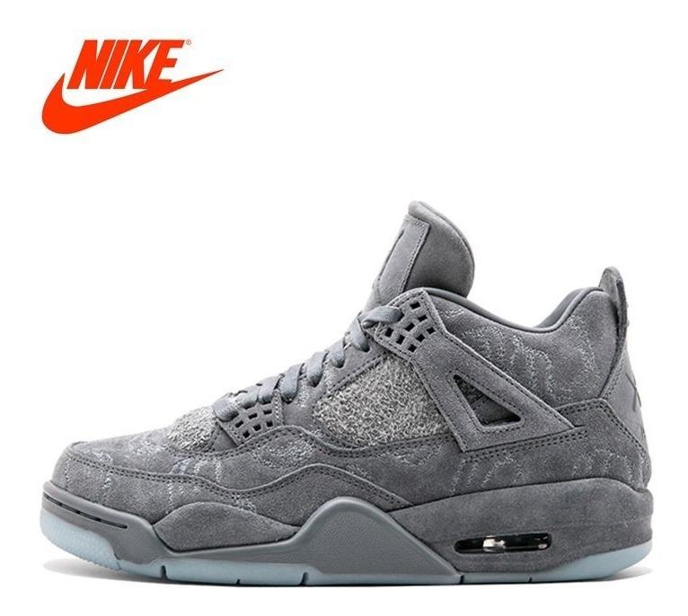 brand new fee33 20393 Tênis De Basquete Original Oficial Kaws X Air Jordan Nike 4