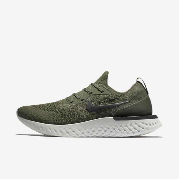 caed3b9233f Tênis De Corrida Nike Epic React Flyknit Verde Original - R  649