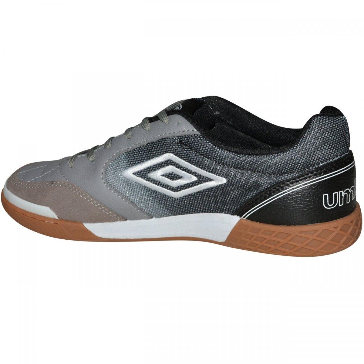 b6e68ff6b6092 Tênis De Futsal Umbro Box Id - Cinza/preto - Original - R$ 279,90 em ...