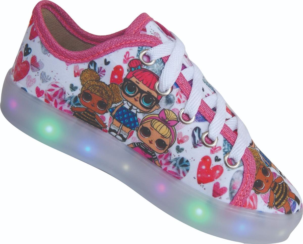 9225ec18779 tênis de led infantil com luz luzinha pisca menina brilha. Carregando zoom.