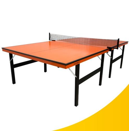 tênis de mesa laranja + suporte e rede [exclusivo]