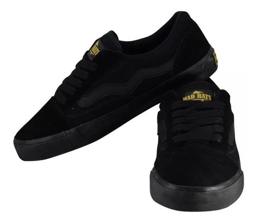 tênis de skate mad rats old school todo preto