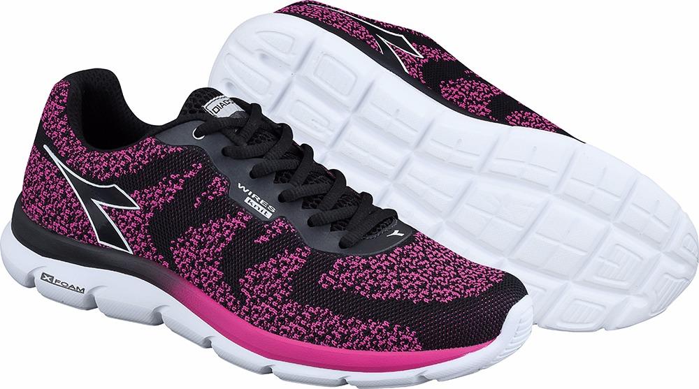 tênis diadora feminino flock w black pink frete grátis. Carregando zoom. 3c1b54f562a