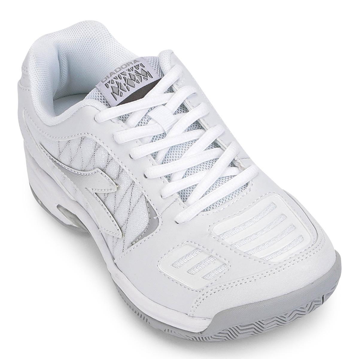 bd23d90b5fe tênis diadora hi supreme 3 feminino - cor branco+prata. Carregando zoom.