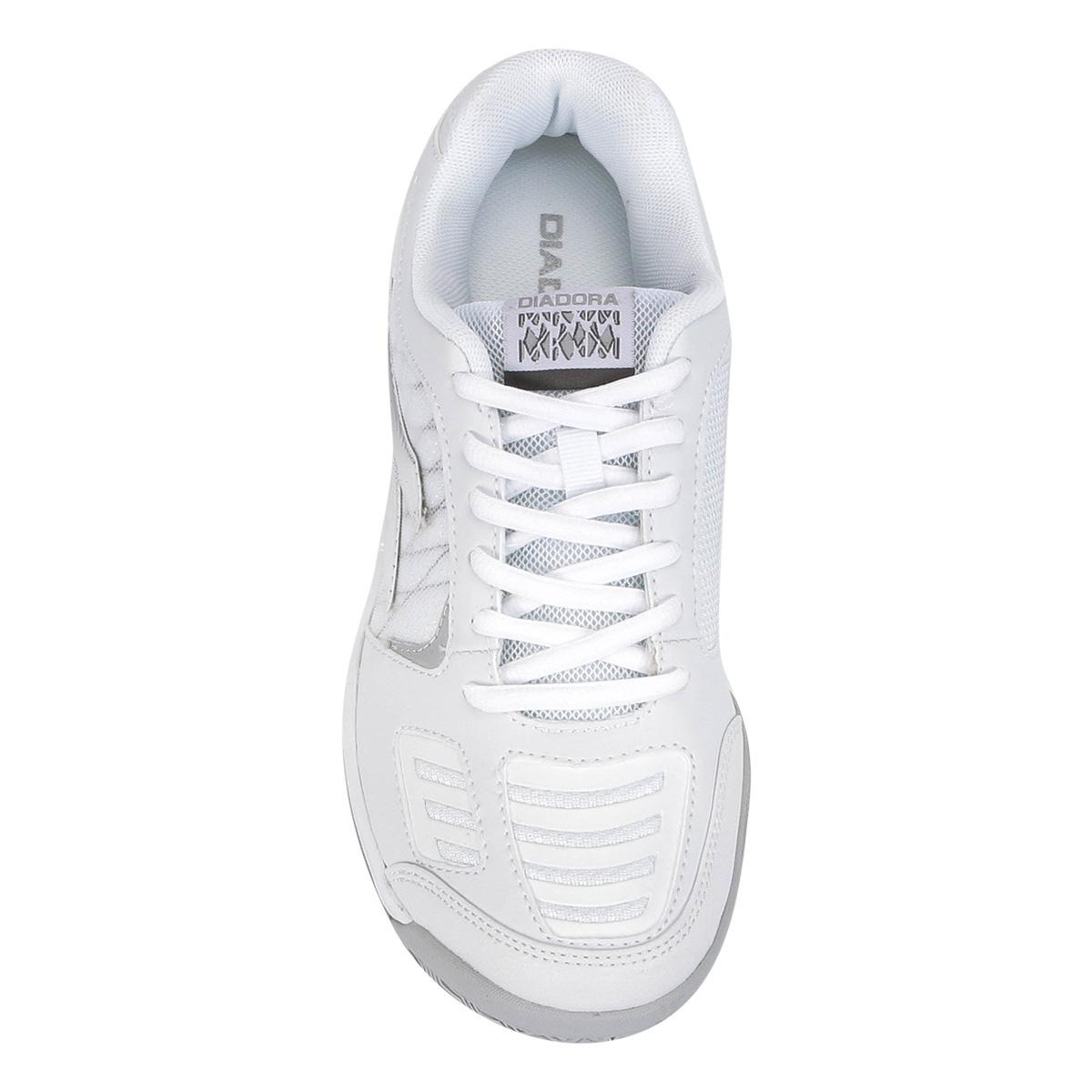 81fcef206f6 tênis diadora hi supreme 3 feminino - cor branco+prata. Carregando zoom.