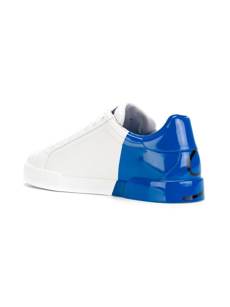 fa6605d889a40 tênis dolce   gabbana color block branco e azul (35 - 42). Carregando zoom.