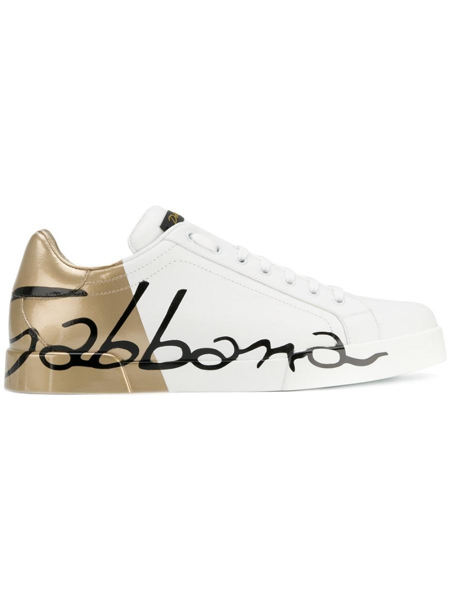 4e38649af3119 tênis dolce   gabbana color block branco e dourado (35-42). Carregando zoom.