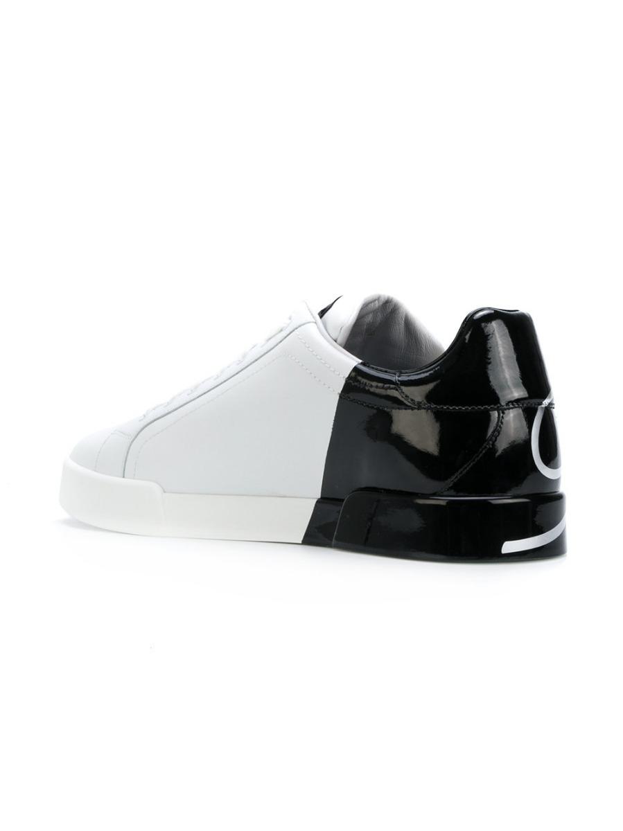f2782da81a262 tênis dolce   gabbana color block branco e preto (35 - 42). Carregando zoom.