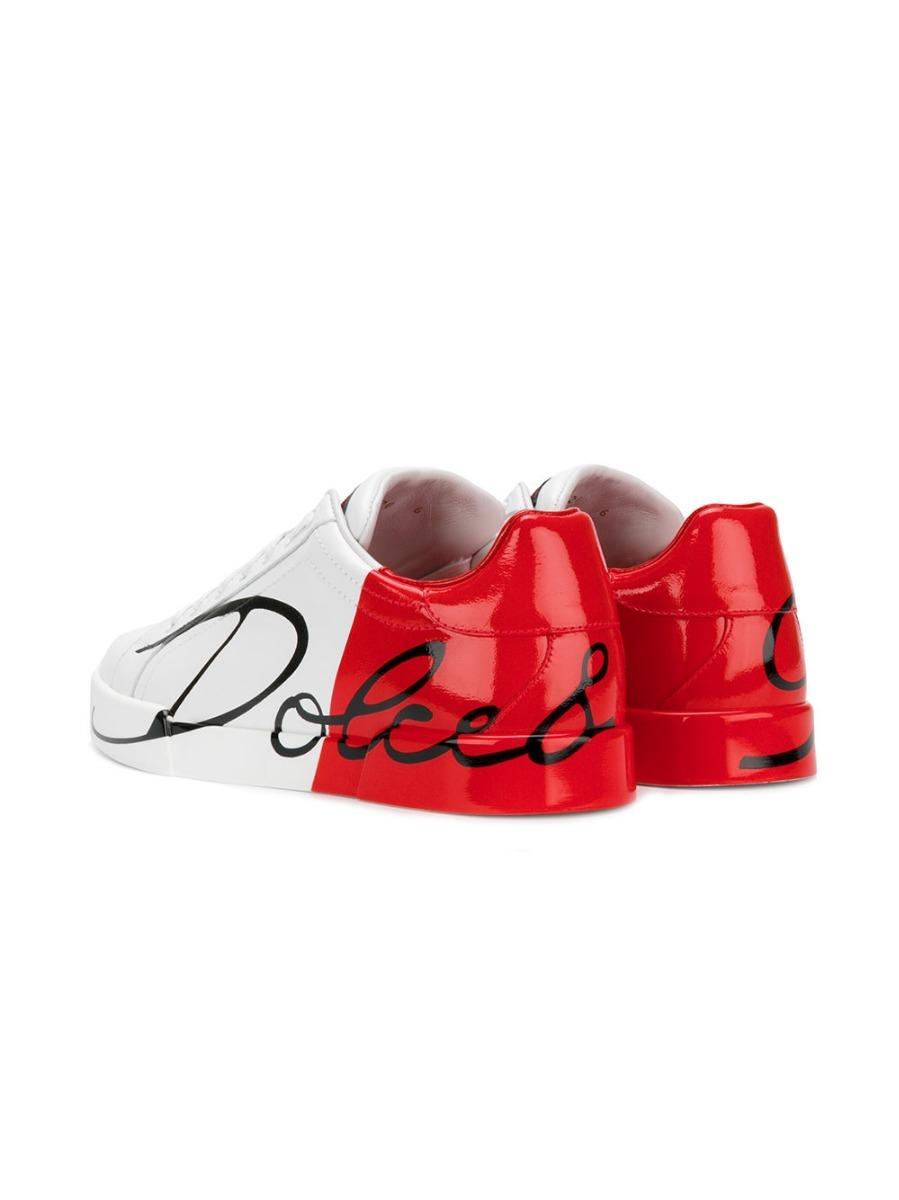 7624cfe918032 tênis dolce   gabbana color block branco e vermelho (35-42). Carregando  zoom.