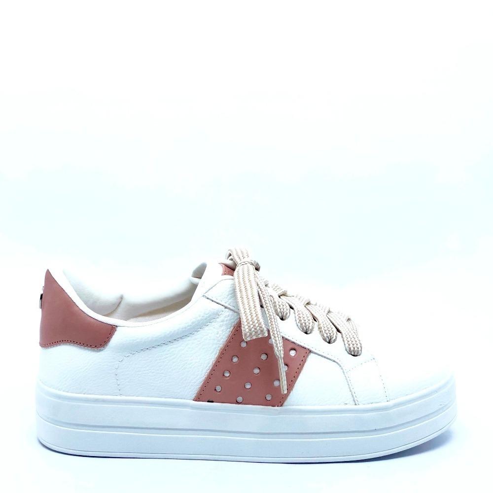 4fdd80de0 tênis dumond flatform branco/rosa/prata - loja berti maria. Carregando zoom.
