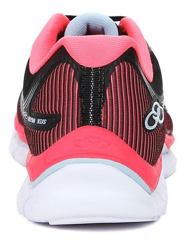 tênis esportivo feminino olympikus flyter preto/rosa 38