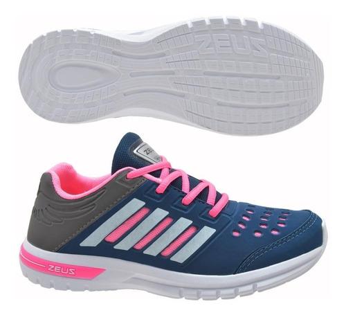 tênis esportivo feminino zeus figgo caminhada academia novo