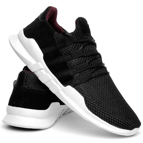 tênis esportivo unissex caminhada academia preto + 5 cores
