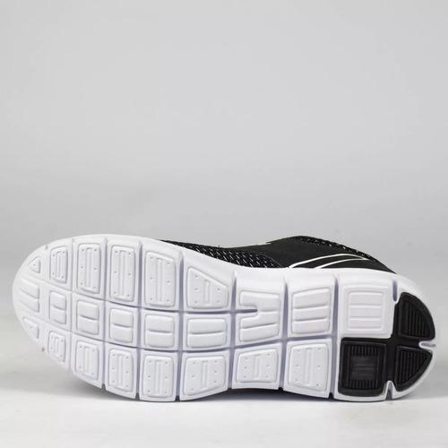 tênis estilo esportivo freedom fog off preto/branco