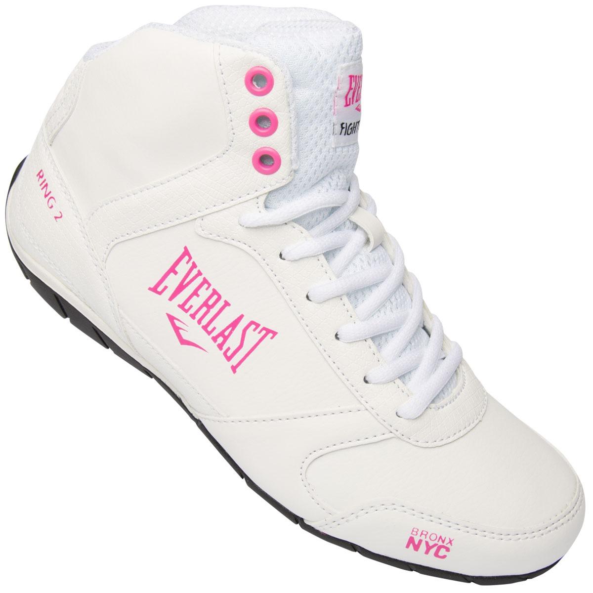 tênis everlast ring 2 branco e rosa - feminino. Carregando zoom. 8bffe288a3c95