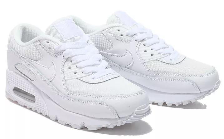cheap for discount 35e65 6e882 tênis feminino a i r max 90 clássico em couro branco