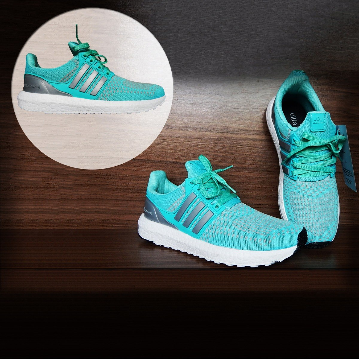 Tênis Feminino adidas Ultra Boost Endless Energy Verde Água - R  200 ... 4799f535902e0
