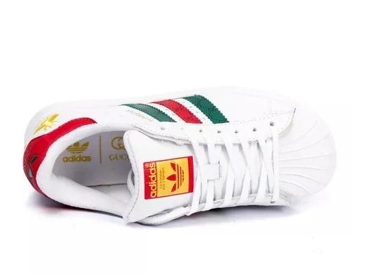 81d383c55b Tênis Feminino adidas Super Star Gucci Ande Com Estilo - R  280