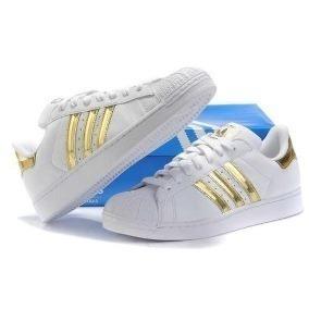 8eb81b1cb3 Adidas Superstar Feminino Dourado - Adidas para Feminino no Mercado ...