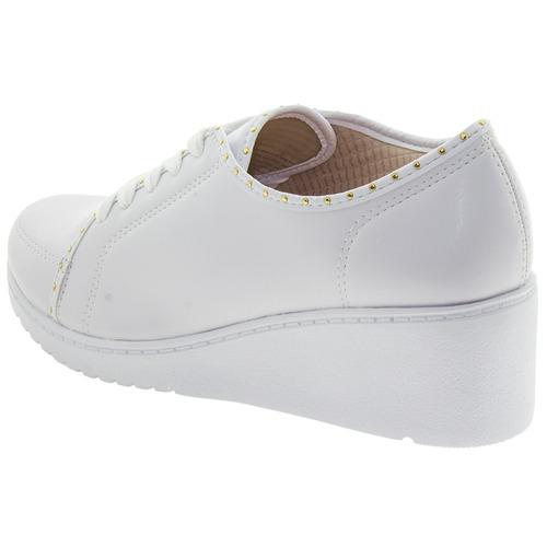 tênis feminino anabela branco azaleia - 810/412