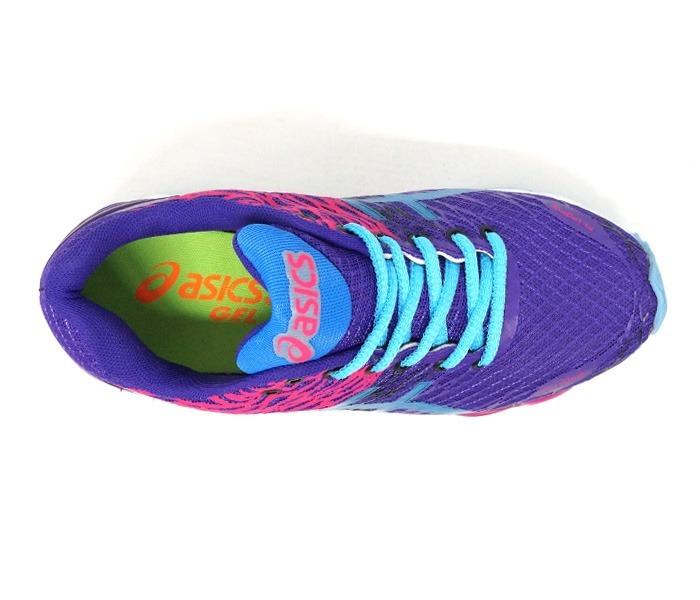 4aff7e3b326 Tênis Feminino Asics Gel Nimbus 18 Roxo E Azul - Promoção - R  149 ...