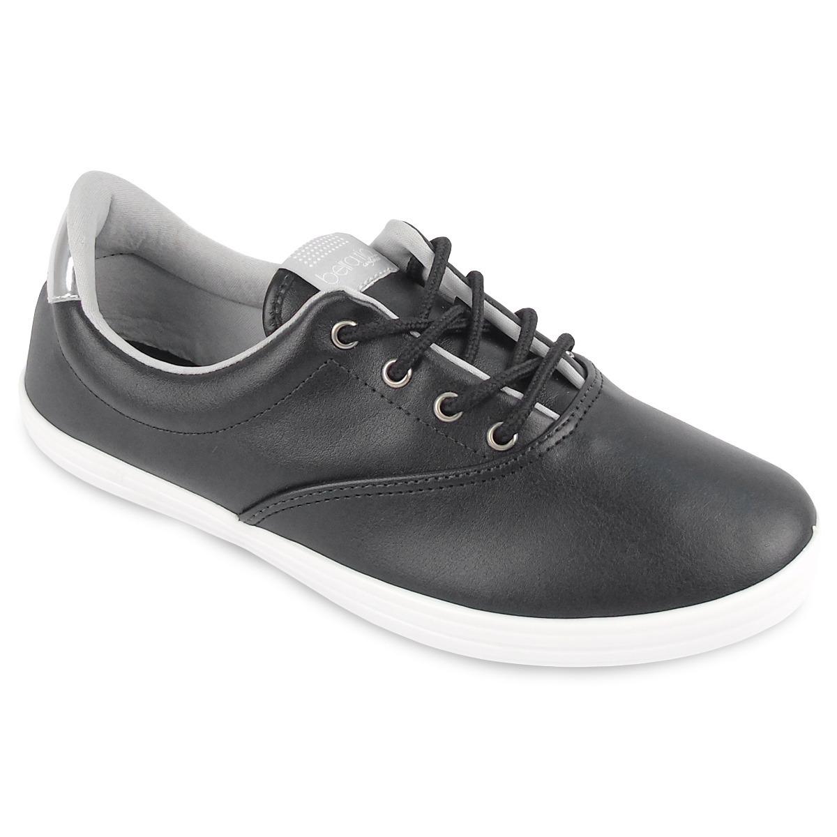 62421160e9 tênis feminino beira rio conforto preto prata cadarço. Carregando zoom.