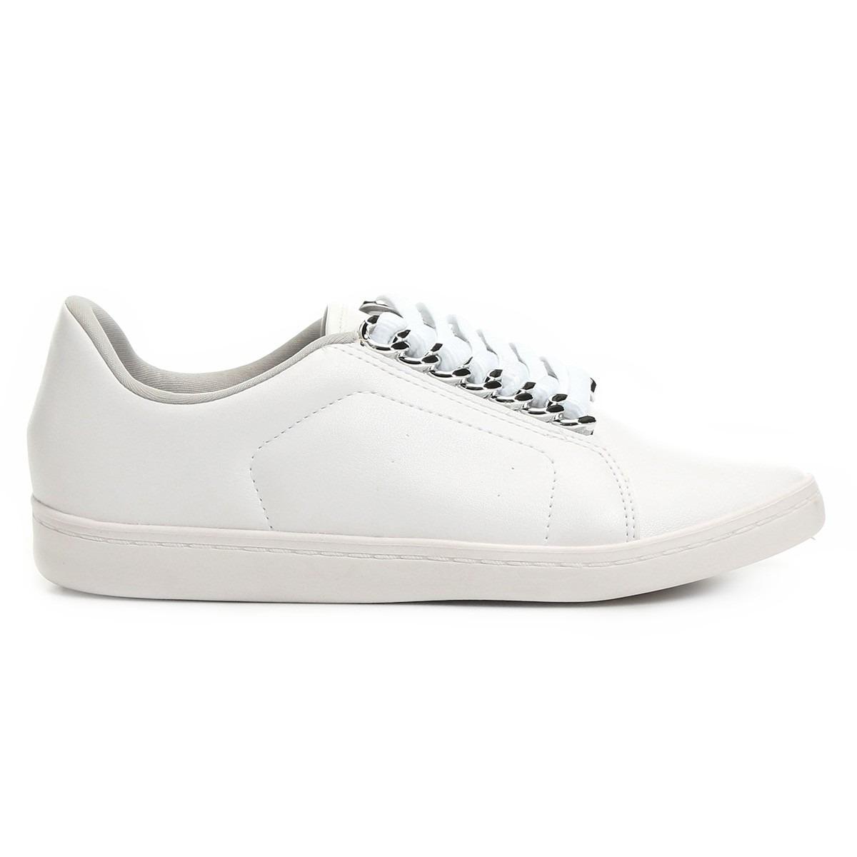 4c4bd4754e tênis feminino branco com prata beira rio conforto. Carregando zoom.