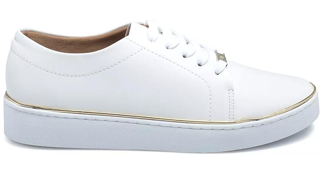 00e50cab7 tênis feminino branco vizzano filete dourado - qualidade top. Carregando  zoom.