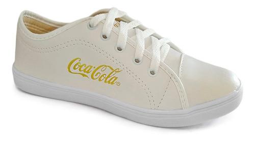 tênis feminino casual coca cola + sandália tratorada oferta