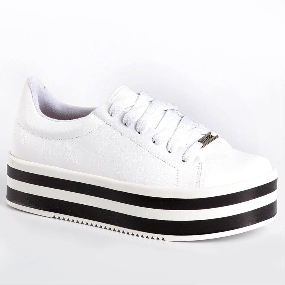 5f88d5198402f tênis feminino casual flatform vizzano branco - 1298100. Carregando zoom.