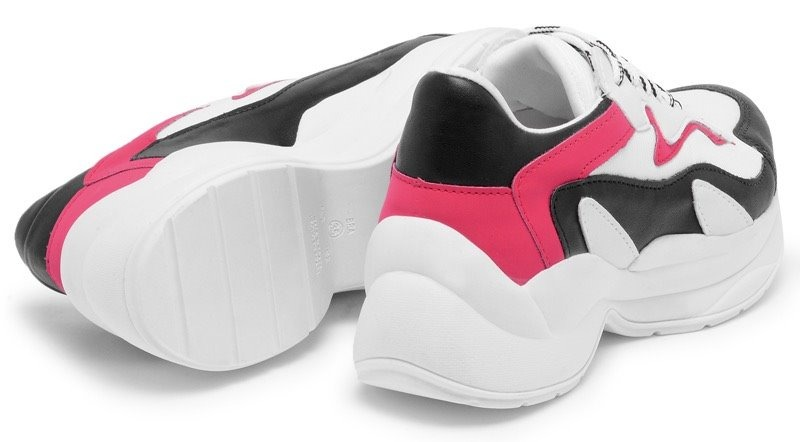 4d0680ed4a tênis feminino casual recorte colorido sola alta moderno top. Carregando  zoom.