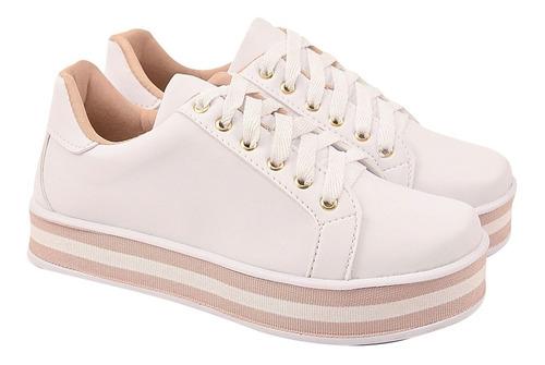 tênis feminino casual sapatênis original chiquiteira 60101