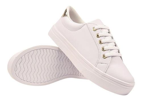 tênis feminino casual sapatênis sapatilha bran eleganteria
