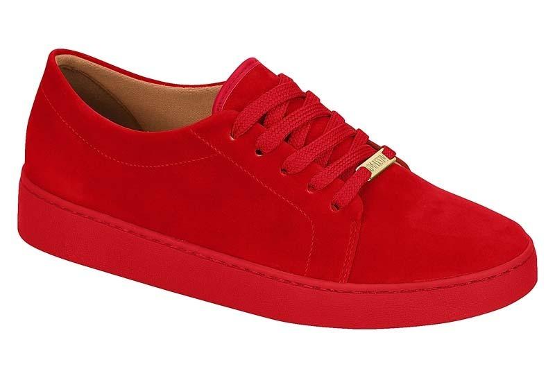 cd79acf1ac1 tênis feminino casual vizzano 1214205 vermelho nobuck. Carregando zoom.