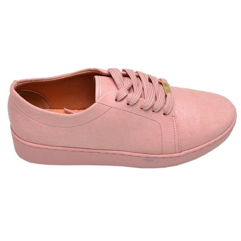 c574e7ad54 tênis feminino casual vizzano rosa claro veludo. Carregando zoom.