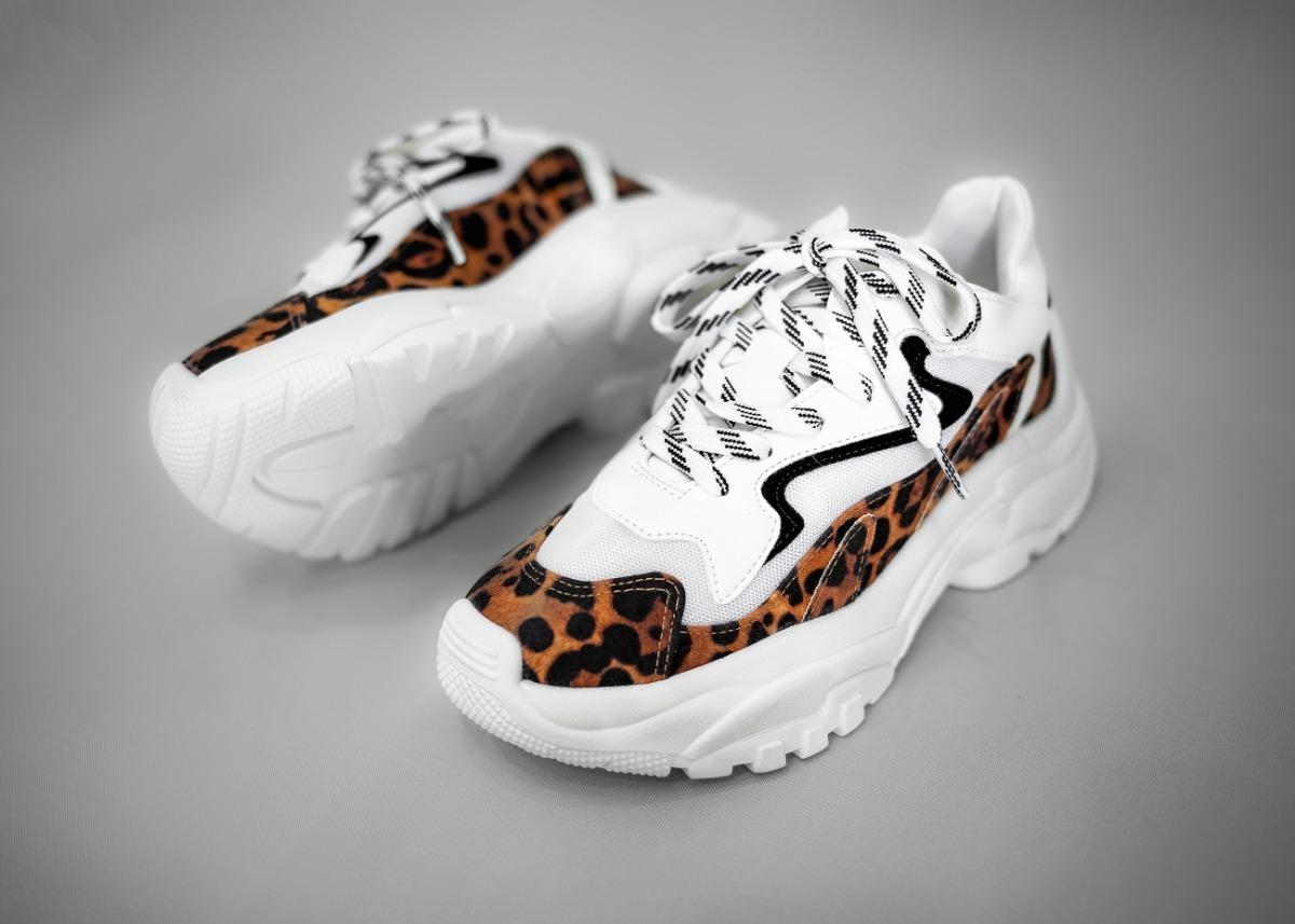 e1bad22f8 Tênis Feminino Chunky Sneaker Zatz White Com Oncinha - R$ 229,90 em ...
