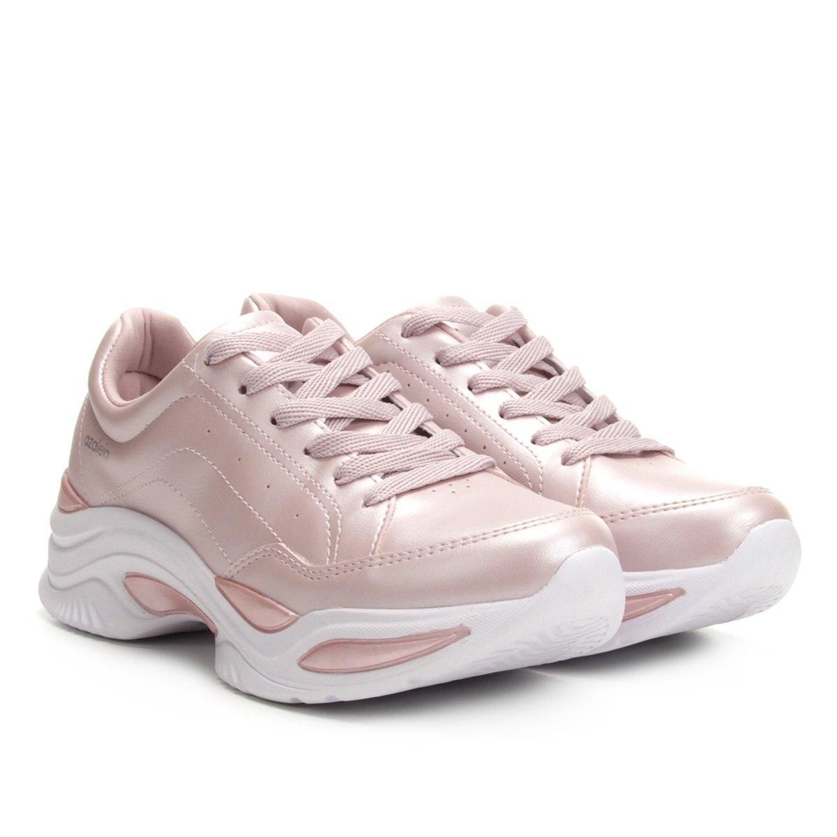 40695835e Tênis Feminino Chunky Sneakers Azaleia Rosa - R$ 169,99 em Mercado Livre