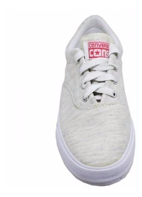 Tênis Feminino Converse All Star Skidgrip Cvo Creme E Branco