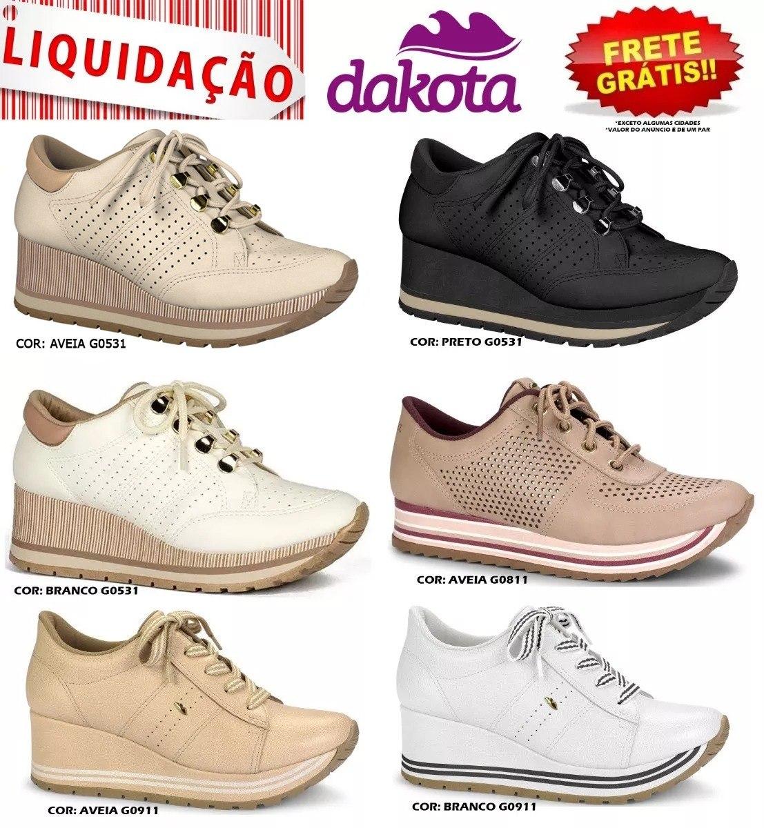 5f5378729b tênis feminino dakota flatform sneaker g0531 g0911 sola alta. Carregando  zoom.