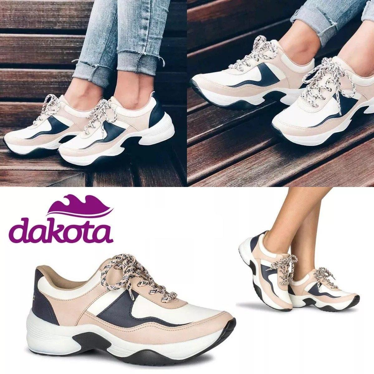 dfa47ad7ec tênis feminino dakota sneakers g0571 - branco. Carregando zoom.