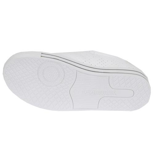 tênis feminino de solado alto 3cm - branco - via marte